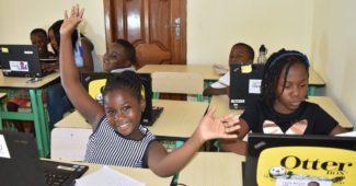 children coding at soronko academy