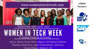 women in tech week 2017 poster